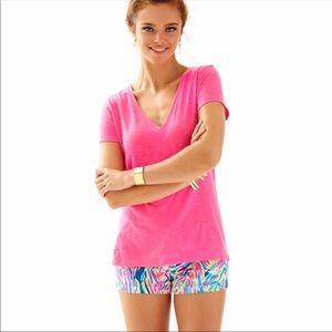 Lilly Pulitzer Michele V Neck Pina Cotton T-Shirt